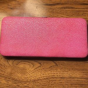 Pink Snap Clutch Wallet
